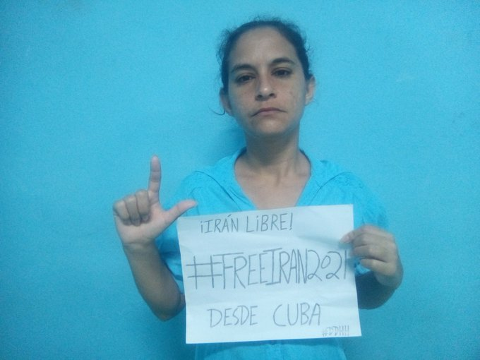AdaIrisMirandaL from Cuba, a former political prisoner and a human rights activist