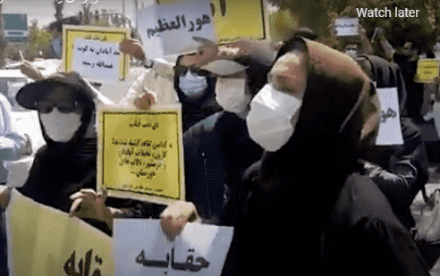 Outburst of anger of thirsty people in Khuzestan