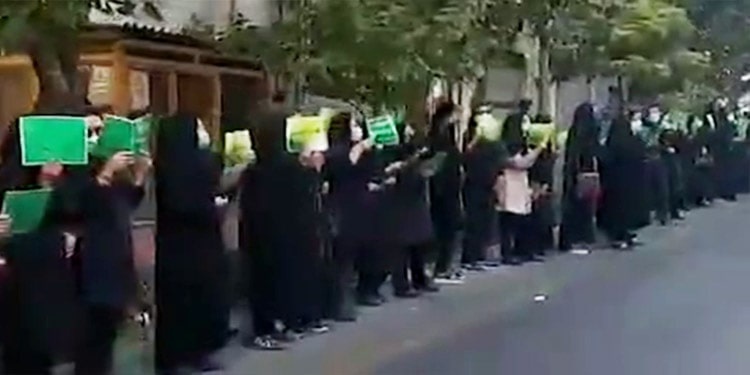 Young teachers and pensioners hold protests in Tehran and other cities. September 12, marked the 9th day of protests by young teachers.
